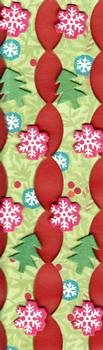 2 x Christmas Trees and Snowflakes 3D Borders . *