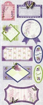 Beautiful Butterfly & Flower Sentiment Tags - Flat Stickers . *