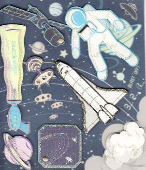 3D Space Foiled and Glitter Stickers by Crafts House . *