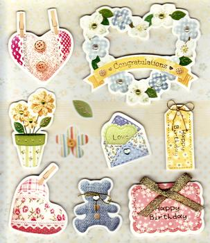 Congratulations/Happy Birthday Stick on Embellishments - DS003 *
