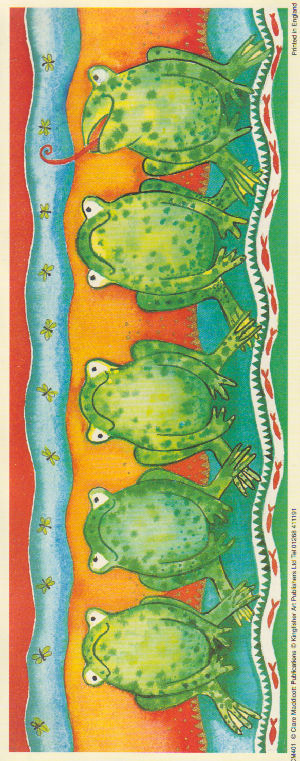 Animal Panel Print - Frog . Claire Maddicott