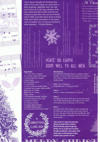 Quality Xmas Backing Paper in Purple - With silver glitter shapes Specials RRP 85p