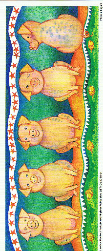 Animal Panel Print - Pig Specials RRP 79p