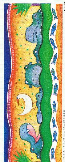 Animal Panel Print - Hippo Specials RRP 79p