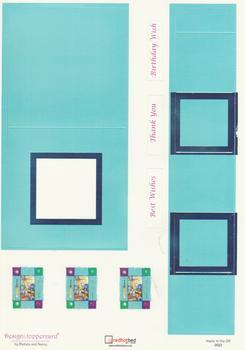 A4 220g Die Cut Silver Foil Topper Card - Cricket Specials RRP £1.25