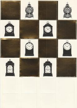 A4 220g Foiled Gold Carriage Clock Die- Cut Topper Sheet Specials papertole.co.uk