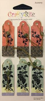 Card Embellishments - 6 Card Tags -  Toppers for Cards - . -Jacksons mail Order