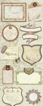 Aviator Themed Flat Stickers from Crafty Bitz - Various Sizes *