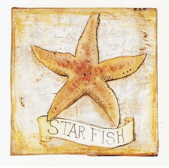 CARD TOPPER - Star Fish - Seaside themed 3.5