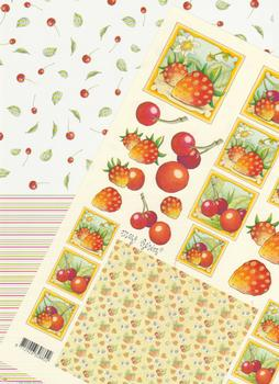 2 Sheets - Mary Rahder Fruit Sheet and Backing Sheet Specials RRP £1.25