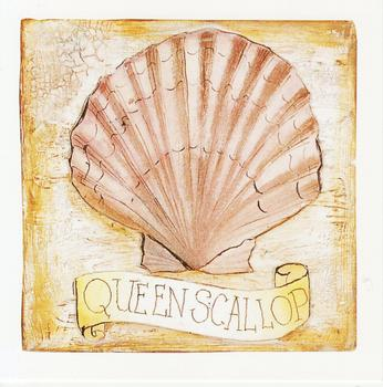 CARD TOPPER - Queen Scallop - Seaside themed 3.5