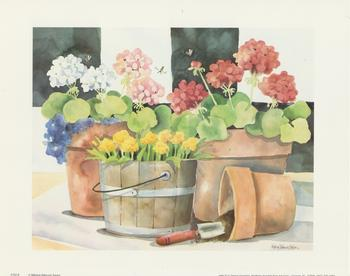Flower Pots and Garden Trowel - by Melissa Babcock Saylor 10