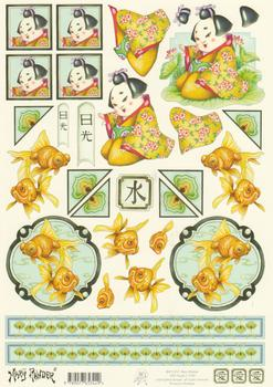 Mary Rahder - Oriental A4 120g Quality  Sheet . Mary Rahder