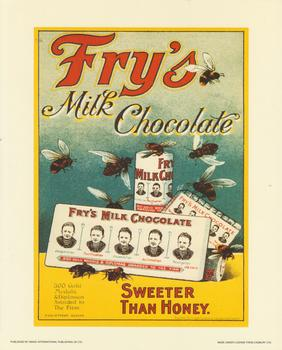 Fry's Milk Chocolate - Sweeter Than Honey Print . -Jacksons mail Order