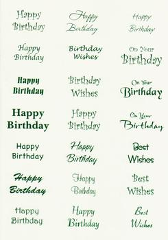 220g multi happy birthday sheet in green was 29p UNBEATABLE OFFER