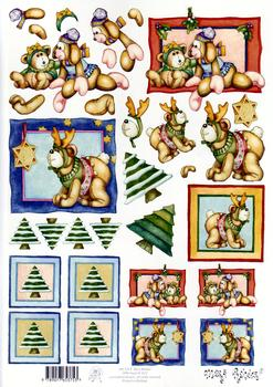 Mary Rahder - A4 120g quality craft sheet - christmas fun time . Mary Rahder
