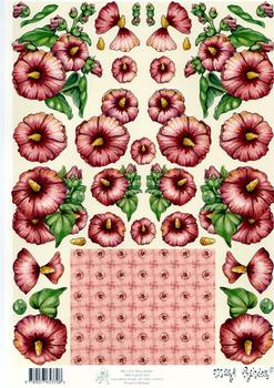 Mary Rahder - A4 120g Quality Backing Sheet -  flowers Mary Rahder