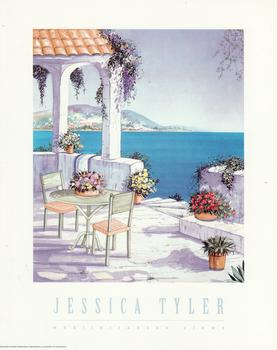 Mediterranean View - A Jessica Tyler Print - Over Looking The Sea -