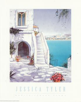 Mediterranean View - A Jessica Tyler Print - Steps going to the View -