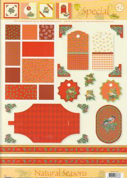 A4 Natural seasons christmas sheet - 42 UNBEATABLE OFFER
