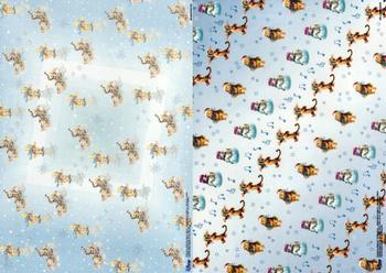 2 Sheets - Winnie the pooh christmas sheet with vellum FANTASTIC OFFER!!!