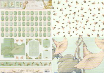 2 Sheets - Fairy World Special sheet with backing paper FANTASTIC OFFER!!!