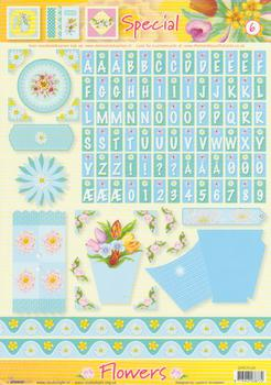 A4 Flowers special sheet - 6 FANTASTIC OFFER!!!