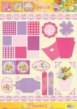 A4 Flowers special sheet - 5 FANTASTIC OFFER!!!