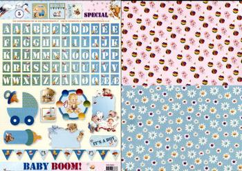 Baby Boom special sheet with FREE backing paper E FANTASTIC OFFER!!!
