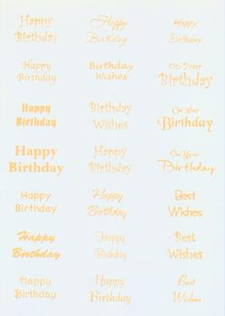 220g Happy Birthday Sentiments in Yellow t FANTASTIC OFFER!!!