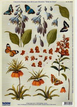 Creative papers - A4 Multi Floral Sheet d-71065 . BEST PRICE