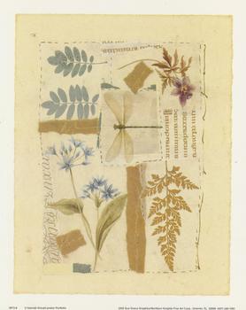 Dragonfly & Flower Patchwork Pattern Print - 5073-8 - Size 10