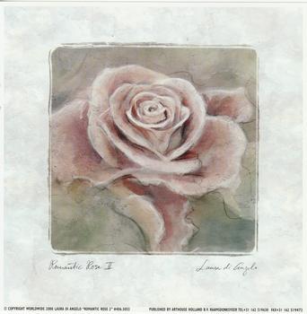 Romantic Rose 2 - by Laura De Angelo Print 7