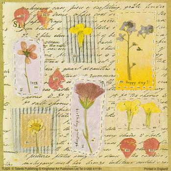 Birthday Greetings with Flowers - L525 - 5