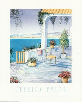 Mediterranean View - A Jessica Tyler Print - Water verander and scenic view of sea -