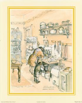 Bygone Days Print 4 - WASHING THE POTS by M L Clarkson - 10