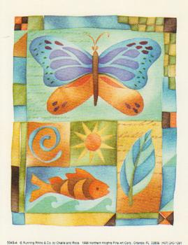 Large Fashionable Topper - Butterfly & Fish *