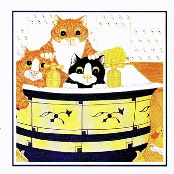 Cats in the Bath -  5.5
