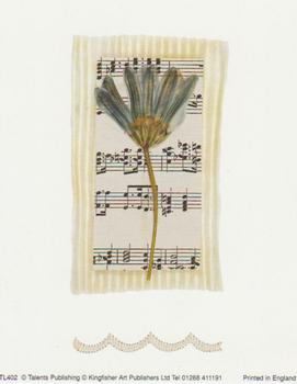 Large Fashionable Topper - Flower with Music Sheet in the Background tl402 t BEST PRICE
