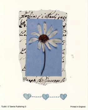 Large Fashionable Topper - White Flower tl404 JMO *