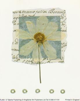 Large Fashionable Topper - Cream Flower with Blue Back Ground - tl406 t BEST PRICE