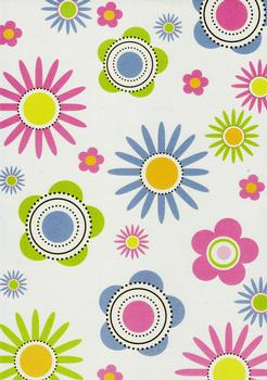 Quality Backing Paper G - Large Flowers . *