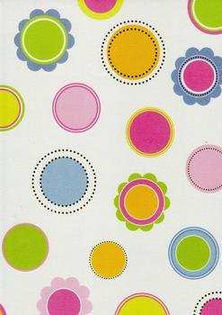 Quality Backing Paper I - Coloured Circles & Flowers *