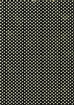 Quality Backing Paper L - Black & Cream Polka Dots *
