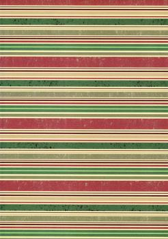 Quality Backing Paper O - Red Green & Gold Stripes *