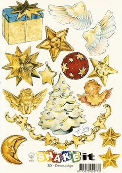 Christmas Decorations - A5 Themed Christmas Sheet 3D Card Art Multi Image sheet
