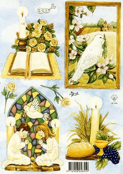 Religious Themes - A5 Church Themed Sheet 3D Card Art Multi Image sheet
