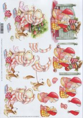 3d Easymake - Christmas Teds     11055-028 3D Easymake Easy to follow instructions