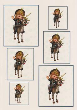 Cute Elf with Reindeer - Papertole Exclusive Topper Sheet . -Jacksons mail Order