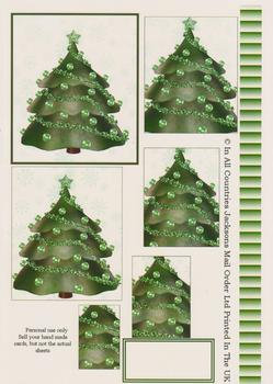 Green Christmas Tree - Papertole Exclusive Topper Sheet . -Jacksons mail Order